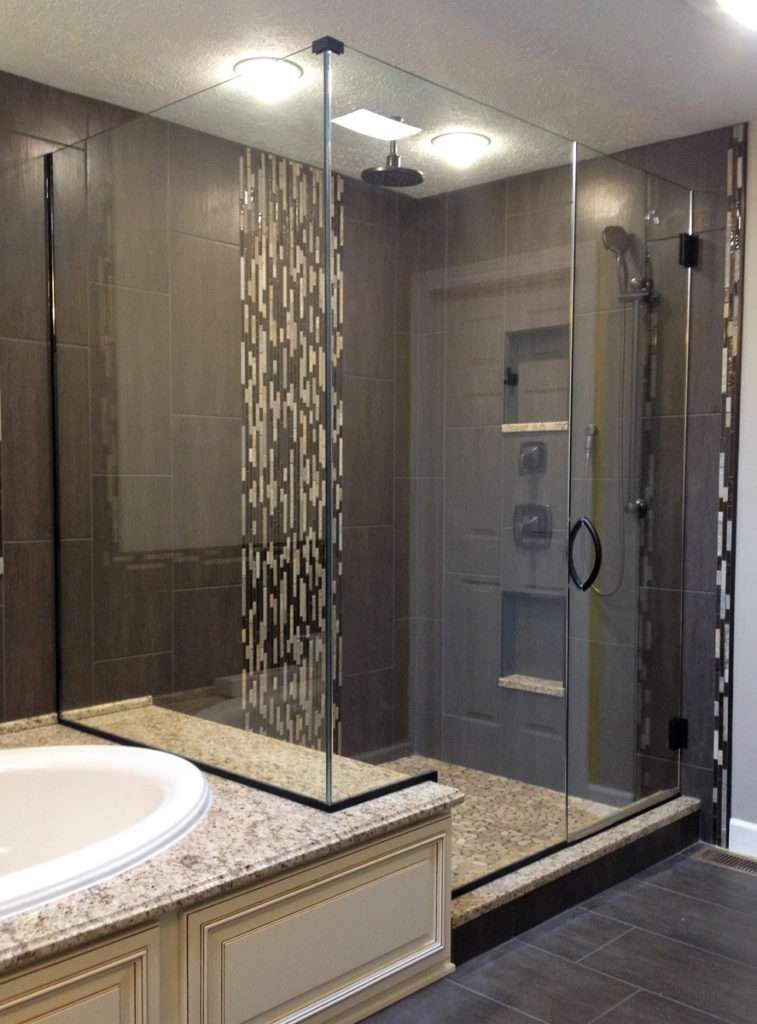 Midwest Glass and Mirror Frameless Heavy Glass Enclosure